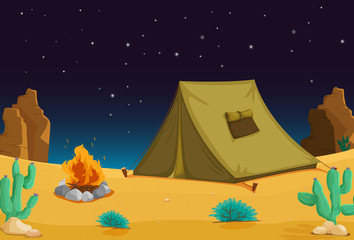 Spoed Foto op Canvas Indiërs Camping at night