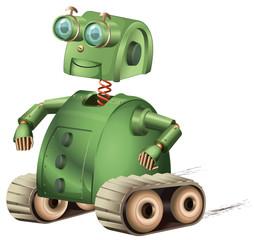 Spoed Foto op Canvas Robots Retro robot
