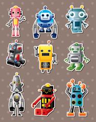 Spoed Foto op Canvas Robots cartoon robot sticers