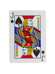 Old playing card (jack)