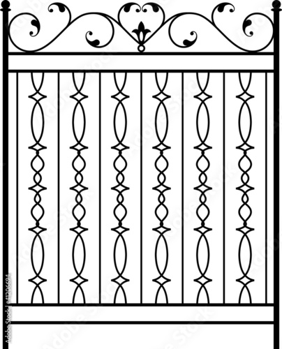 """""""Wrought Iron Gate, Door, Fence, Window, Grill, Railing"""