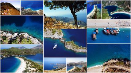 Collage Paragliden Türkei: Traumhafter Blick über Ölüdeniz