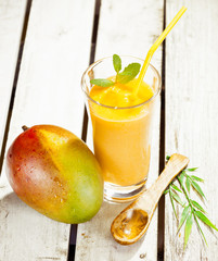 Healthy fresh mango smoothie