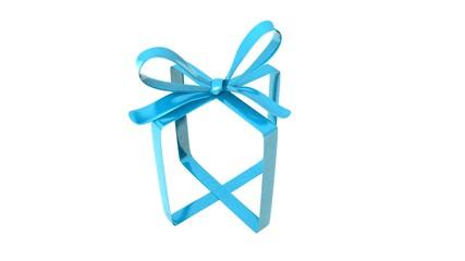 Geschenk Schleife blau Bow blue
