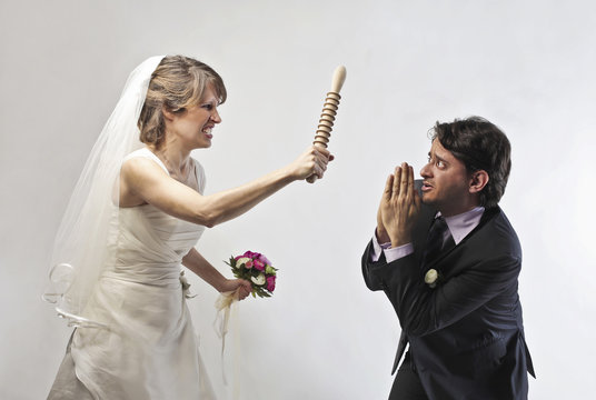Submissive groom