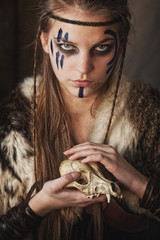 Witch warrior with animal skull