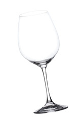 Empty wine glass, isolated
