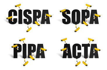 Illustration NWO *** CISPA SOPA PIPA ACTA