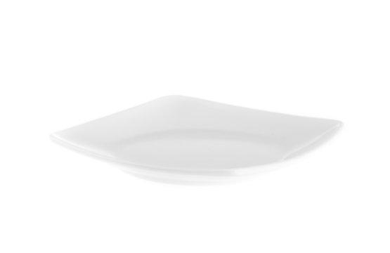 plain white dinner plates isolated on white background