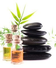 Massage accessories in a spa setting