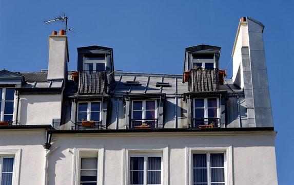 Chambres sous les toits.