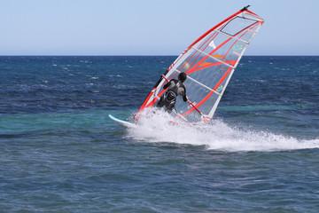 planche à voile et mer
