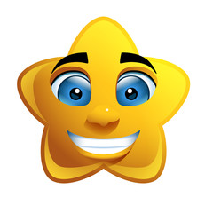 Star Face Loony Character