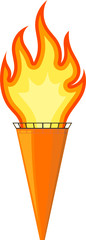 Vector illustration of a cartoon torch. EPS10