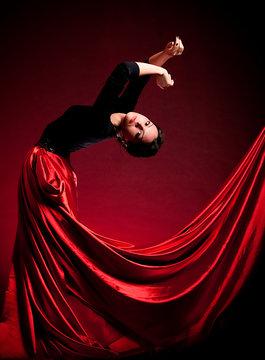 Flamenco Carmen beautiful woman in dress