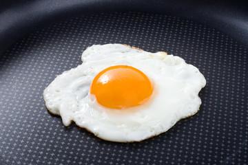 Printed kitchen splashbacks Egg Fried egg in a pan