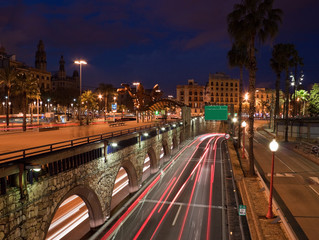 Barcelona night street