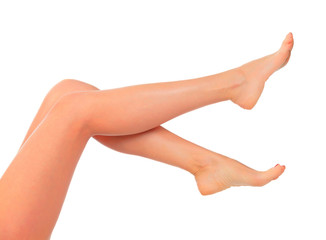 Long female legs after depilation