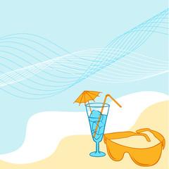 Travel background for you design. Vector collor Illustration.