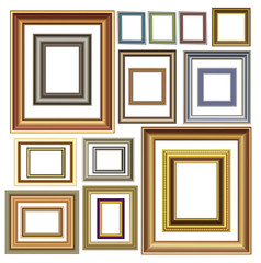 Picture photo frames vector luxury vintage design
