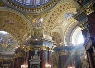 Sunbeam in St Stephans Basilica in Budapest Hungary