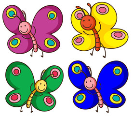 Papiers peints Papillons Colorful butterflies