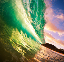 Wall Mural - Sunset Wave