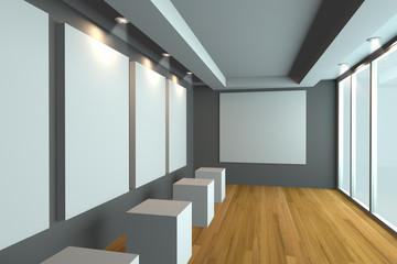 Empty room gray gallery