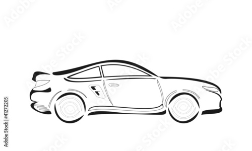 cartoon vector car sketch\