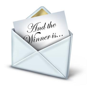 Award Winner Envelope