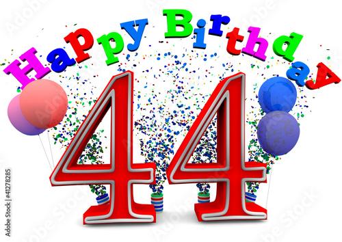 Поздравление на 44 года с днем рождения