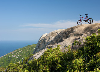 Bicycle on hill
