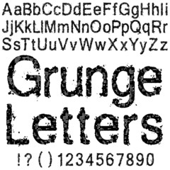 Grunge Letters