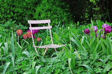Historic Garden Chair in German House Garden