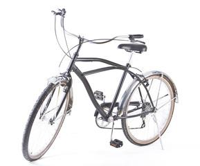 black beach bike isolated over white background