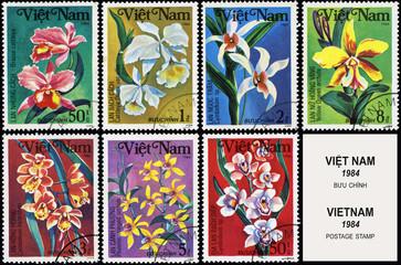 Flowers, series plants, postage stamp
