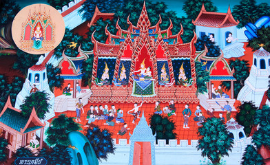 mural painting in the temple