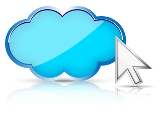 3d cloud & arrow