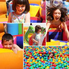 Fototapeta Zabawa dzieci na placu zabaw obraz