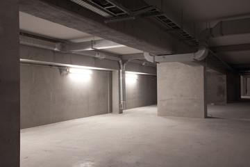 cellar in big modern building