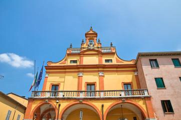 Municipal building. Cento. Emilia-Romagna. Italy.