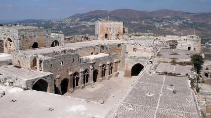 Interior del Crac de los Caballeros, Syria