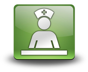 "Green 3D Effect Icon ""Care Staff Area"""