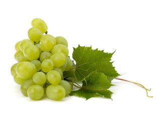 Ripe grape whith leaf