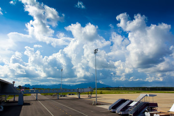 landscape of airfield in Krabi