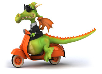 Aluminium Prints Motorcycle Dragon