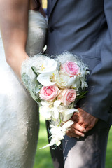 Bride, Groom and Bouquet