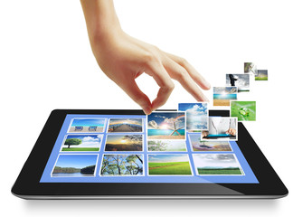 Touch tablet concept images streaming