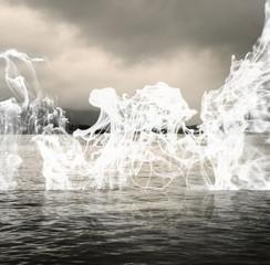 Humo en el lago by Carlos Sanchez