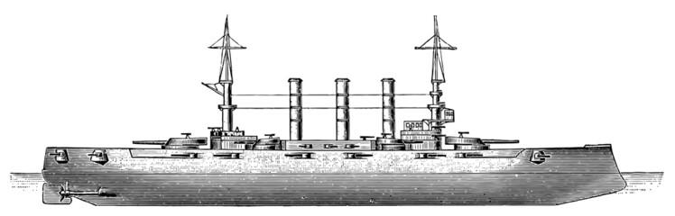 US Connecticut-class battleship USS Kansas (BB-21), 1905